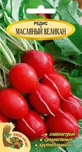 Редис Масляный великан РС1, 3 грамма, среднеспелый, крупноплодный, слабоострый