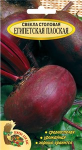 СВЕКЛА СТОЛОВАЯ ЕГИПЕТСКАЯ ПЛОСКАЯ РС1, 4 грамма. Среднеспелая, плоско-округлая, урожайная, хороша в хранении