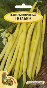 Фасоль спаржевая ПОЛЬКА РС1, 5 грамм (19шт). Раннеспелый, желтая, высота 40-45 см, кустовая
